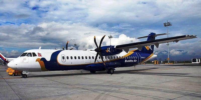 बुद्ध एयरको एटिआर–७२–५०० नयाँ विमान काठमाडौंमा