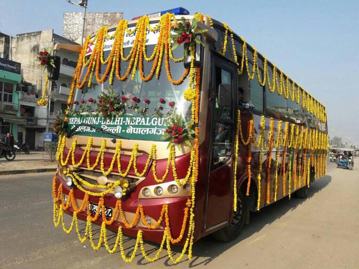 नेपालगन्ज–दिल्ली मैत्रीबस सञ्चालनमा