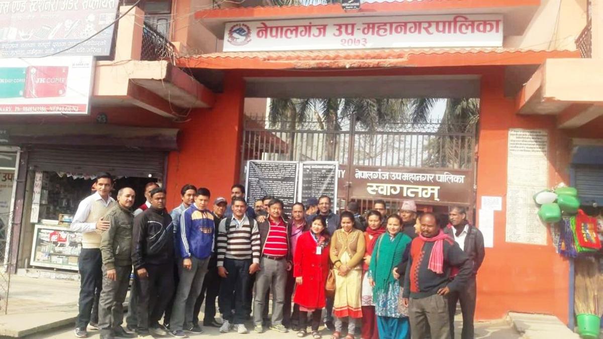 अध्यादेशको विरोधमा कर्मचारी, बाँकेका स्थानीय तहको कामकाज ठप्प
