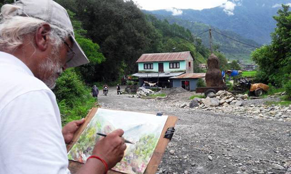 कला कोर्दै समुद्रदेखि पहाड हुँदै हिमालसम्म क्षेत्रलाल