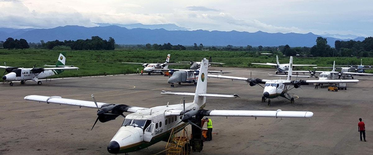 नेपालगन्ज विमानस्थलमा लगातार २ दिनदेखि उडान रद्द