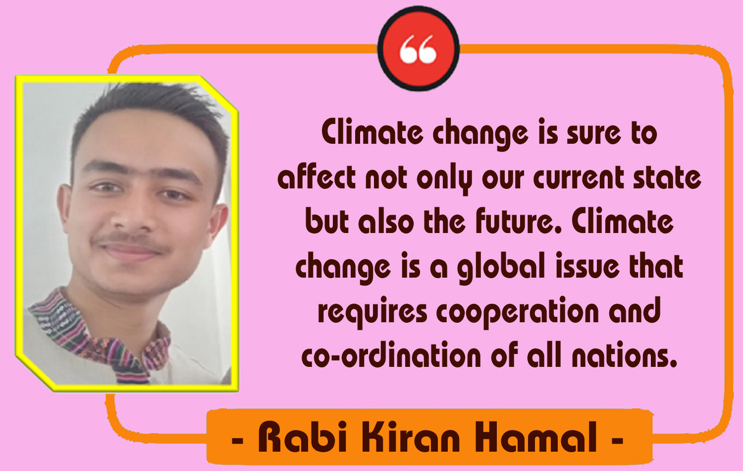 Climate Change & Its Solution