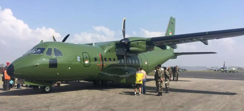 काठमाडौं ओर्लियो नेपाली सेनाको 'मिडियम फिक्सविङ' कार्गो विमान