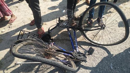 सवारी दुर्घटनामा साइकल यात्रीको मृत्यु