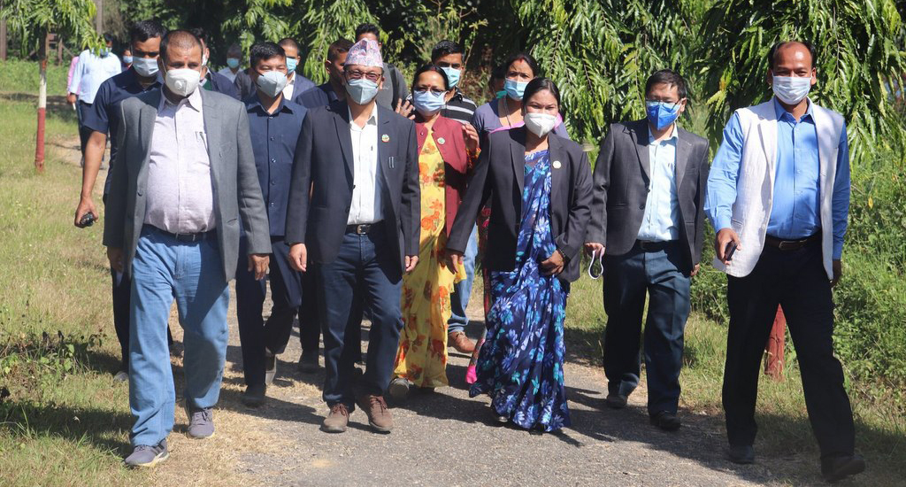 लुम्बिनीका सभामुख र मन्त्रीद्वारा भौतिक संरचना निरीक्षण, हिउँदे अधिवेशन देउखुरीमा