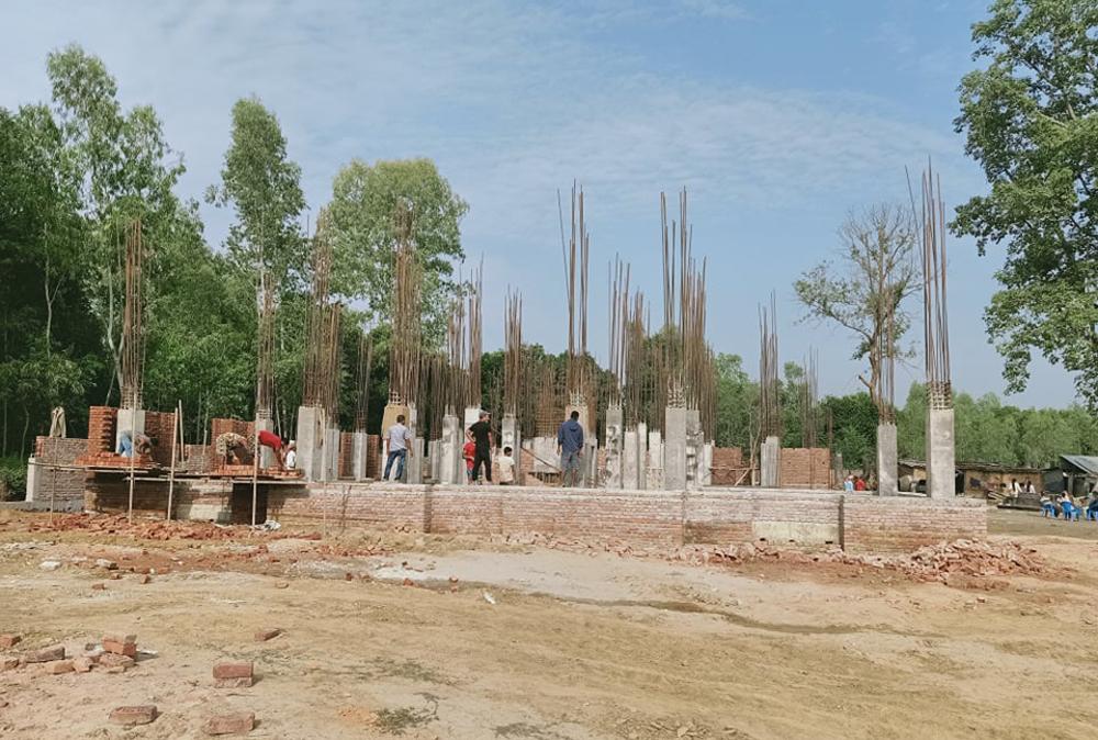 डुडुवाको प्रशासकीय भवन निर्माण तीब्र, तीन महिनामा २५ प्रतिशत काम सकियो