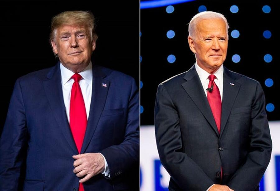 अमेरिकामा राष्ट्रपति निर्वाचन हुँदै, ट्रम्प र वाइडेनबीच मुख्य प्रतिष्पर्धा