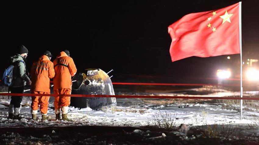 चाङ इ–फाइभ चन्द्रमाबाट चट्टान लिएर चीन फर्कियो