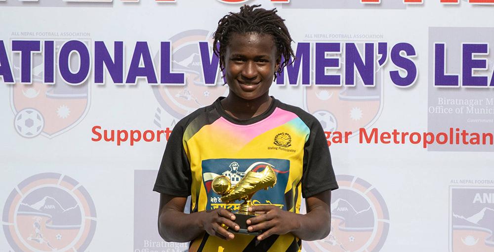 राष्ट्रिय महिला लिग : रुथको दोहोरो ह्याट्रिकमा वालिङ १०–० ले विजयी