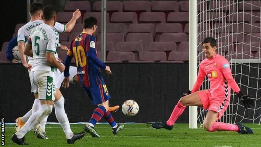 मेस्सीको दुई गोलले बार्सिलोनाले एल्चेलाइ हरायो