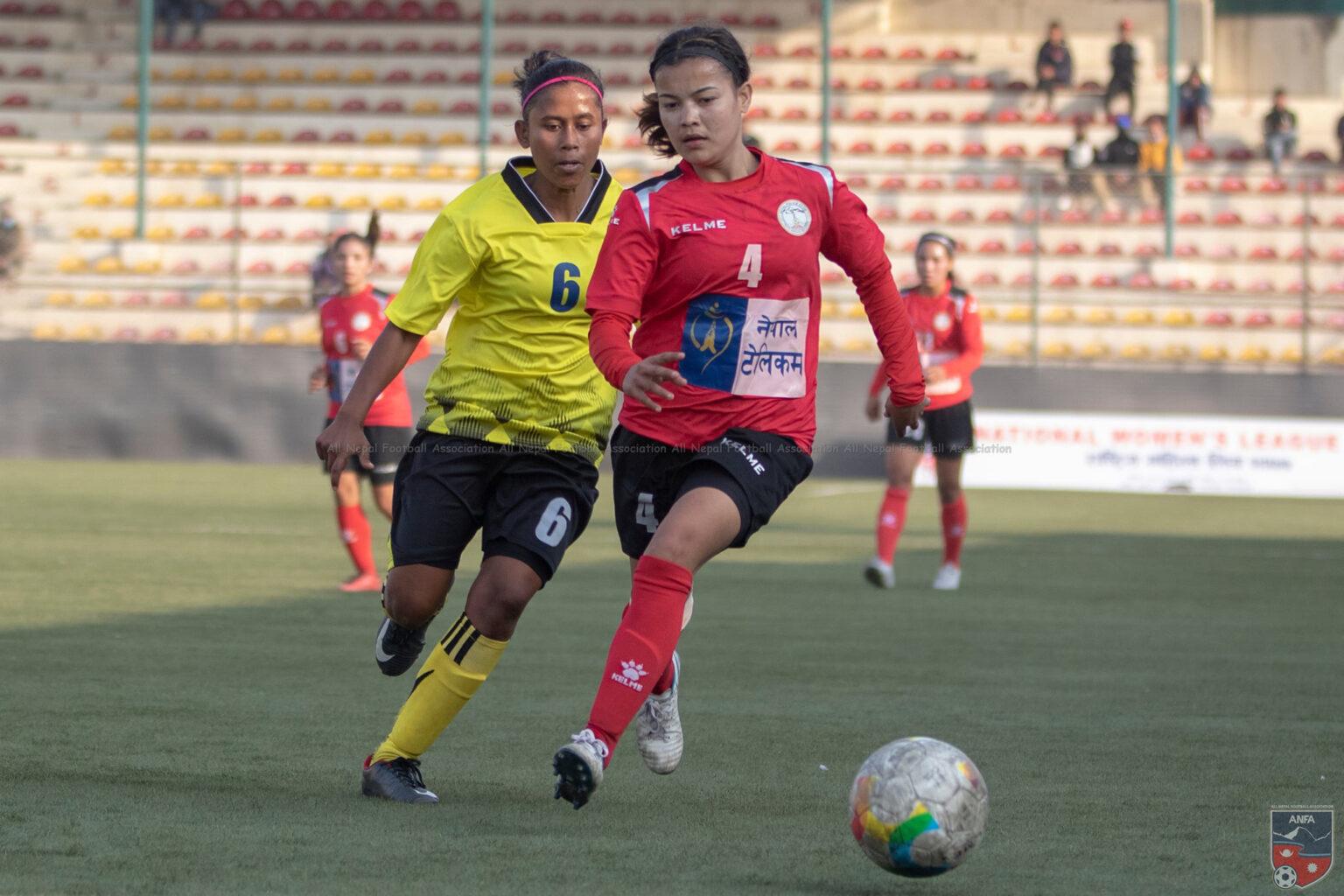 महिला लिग फुटबलको दोस्रो चरणका खेलहरु आजदेखि हुदै