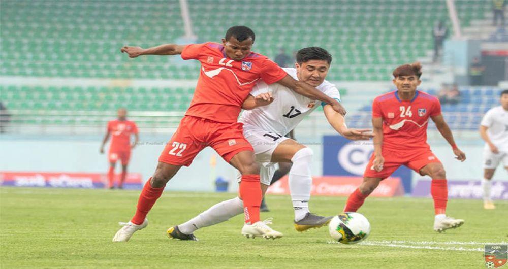 थ्रि नेसन्स कप फुटबलमा नेपाल र किर्गीस्तानले खेले बराबरी