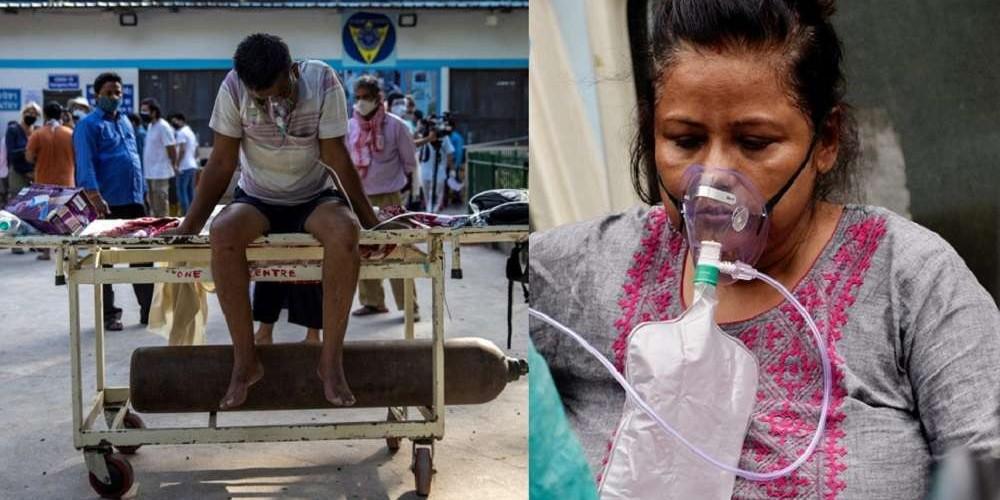 भारतमा अक्सिजन अभावमा अस्पताल बाहिरै मरिरहेछन् कोरोना संक्रमित