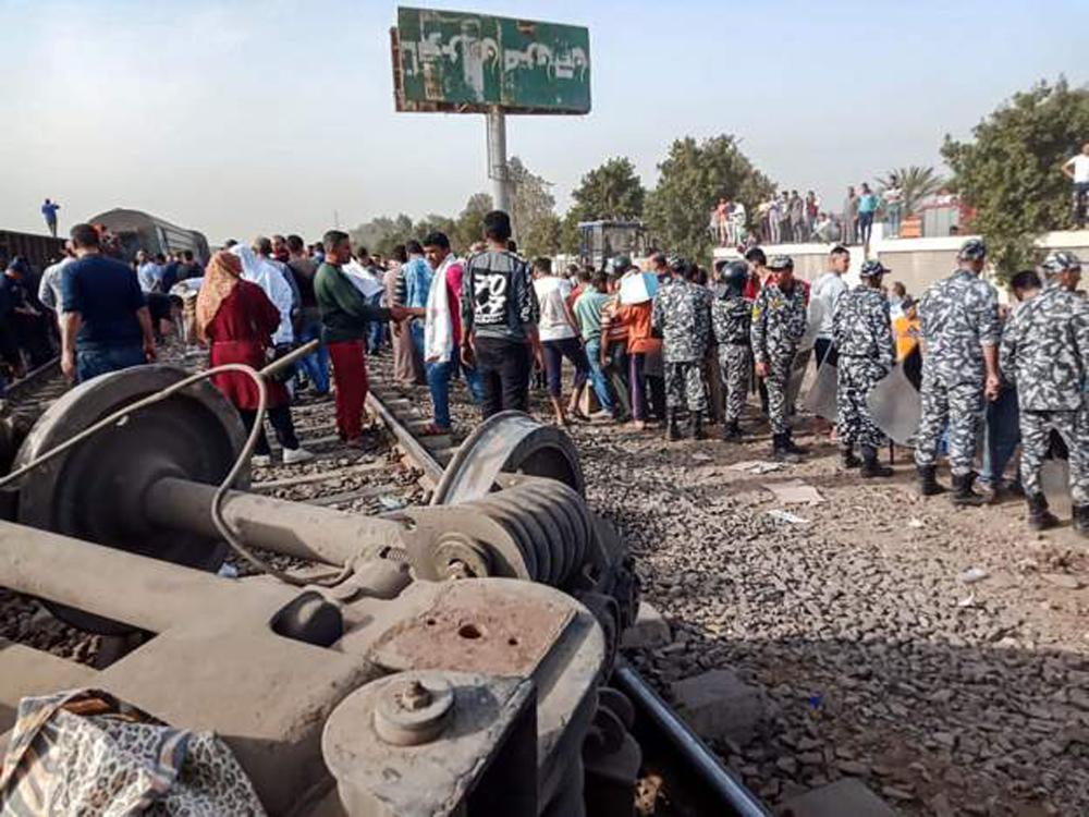 इजिप्टमा रेल दुर्घटना हुँदा ११ को मृत्यु, ९८ जना घाइते