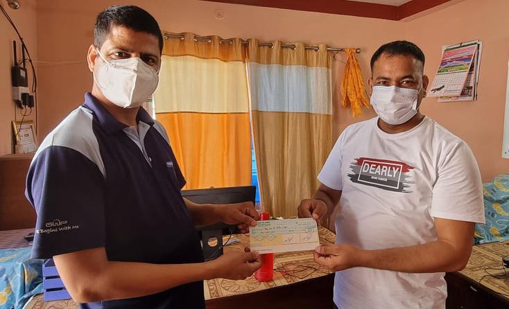 पत्रकार महासंघको एम्बुलेन्स खरीद अभियान, 'पत्रकार शर्माले दिए १० हजार'