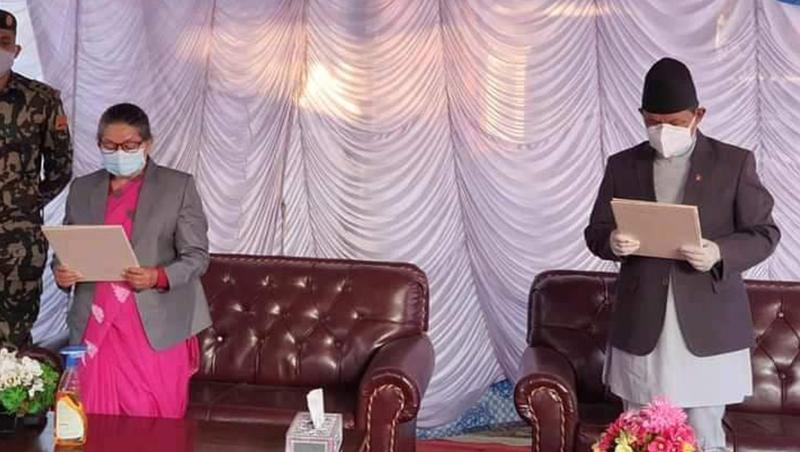 गण्डकीमा पृथ्वीसुब्बा गुरुङ पुनः मुख्यमन्त्री नियुक्त, लिए सपथ