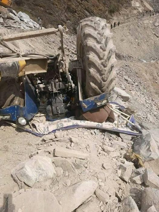 बझाङमा ट्याक्टर दुर्घटना हुदाँ एक जनाको मृत्यु