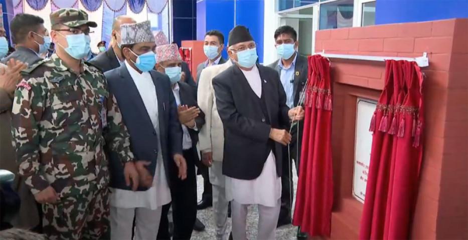 प्रधानमन्त्रीले गरे वीर अस्पतालको नवनिर्मित सर्जिकल भवनको उद्घाटन
