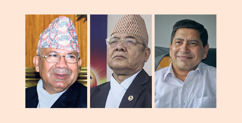 माधव नेपालसँग वामदेव र नारायणकाजीको छुट्टाछुट्टै भेटवार्ता