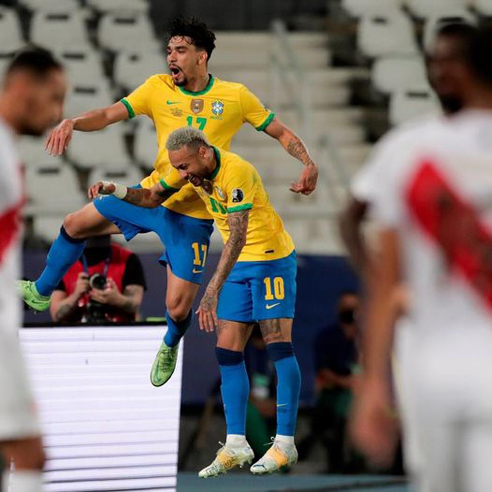 पेरुलाई हराउँदै ब्राजिल कोपा अमेरिका फुटबलको फाईनलमा