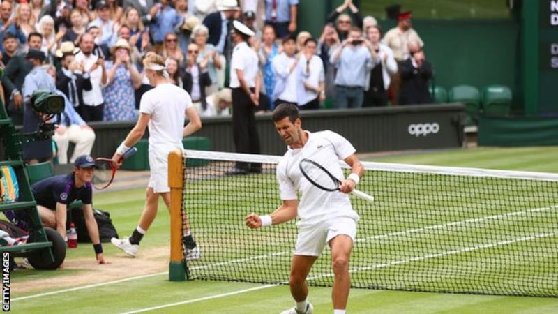 नोभाक जोकोभिच विम्बल्डन टेनिसको फाइनलमा