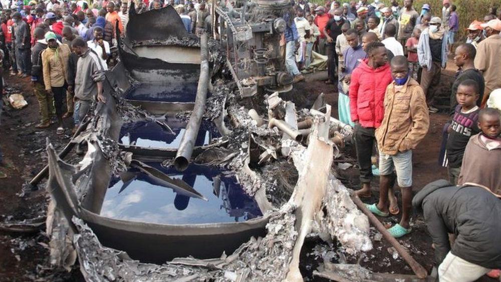 केन्यामा तेल ट्यांकर विस्फोट, १३ जनाको मृत्यु