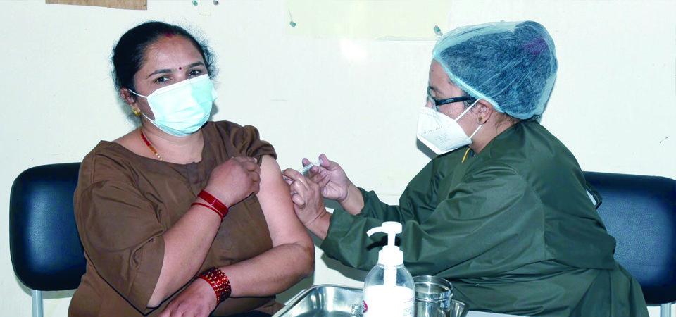 नेपालमा ६४ लाख ६९ हजारले लगाए 'कोरोनाविरुद्धको खोप'
